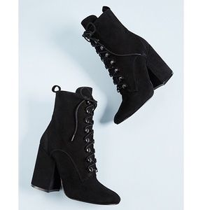 KENDALL + KYLIE | Bridget Lace Up Black Booties
